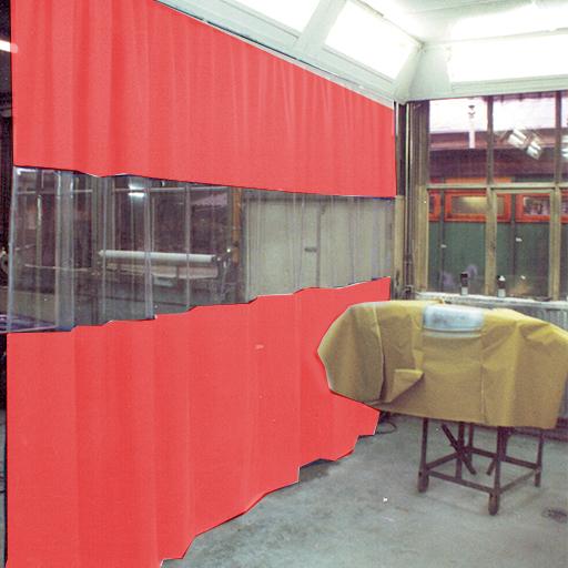Flexibel Industriegordijn op kleur geproduceerd