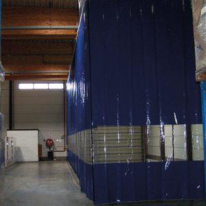Flexibel Industriegordijn Blauw
