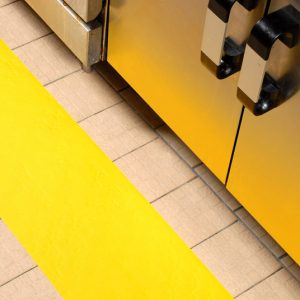 Yellow resilient, 300mm in industrial kitchen web A