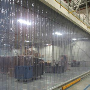 Abschirmung Aus PVC Streife