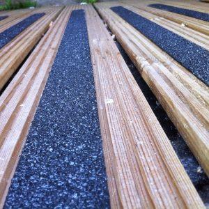 Fiberglass antislip decking strips